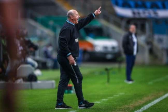 Técnico sofreu seu primeiro revés no retorno ao clube (Lucas Uebel/Grêmio FBPA)