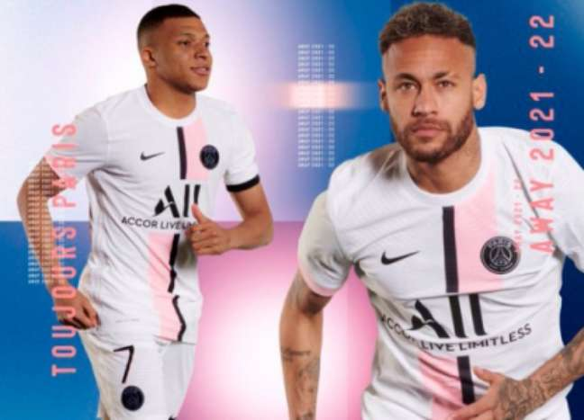 Novo uniforme do PSG para a temporada 21/22 (Foto: divulgação/PSG)