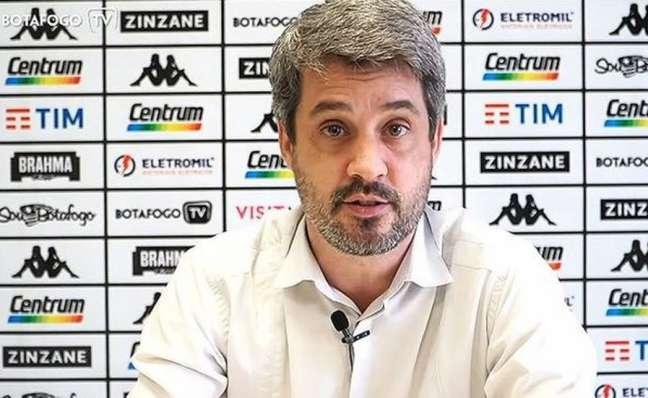 Eduardo Freeland é o diretor de futebol do Botafogo (Foto: Reprodução / BotafogoTV)