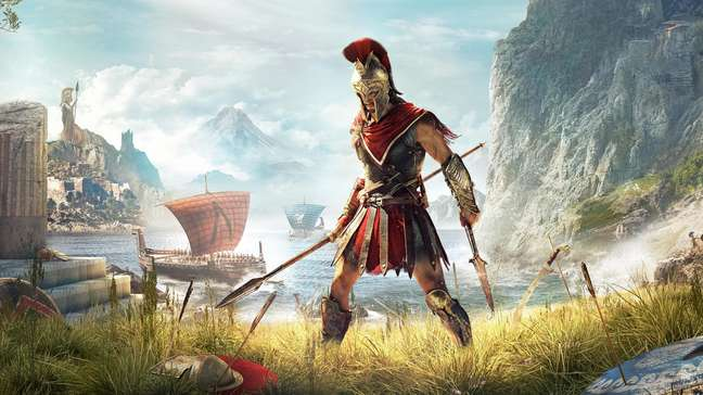 Assassin's Creed Odyssey traz uma ambientação muito bem trabalhada da Grécia Antiga, durante a Guerra do Peloponeso, entre Atenas e Esparta