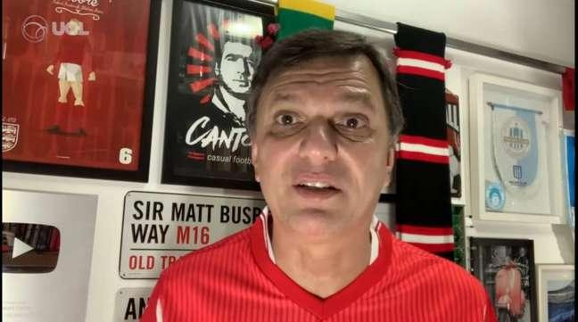 Mauro Cezar apontou um favorito no jogo entre Palmeiras e São Paulo válido pela Libertadores (Foto: Reprodução/Youtube)