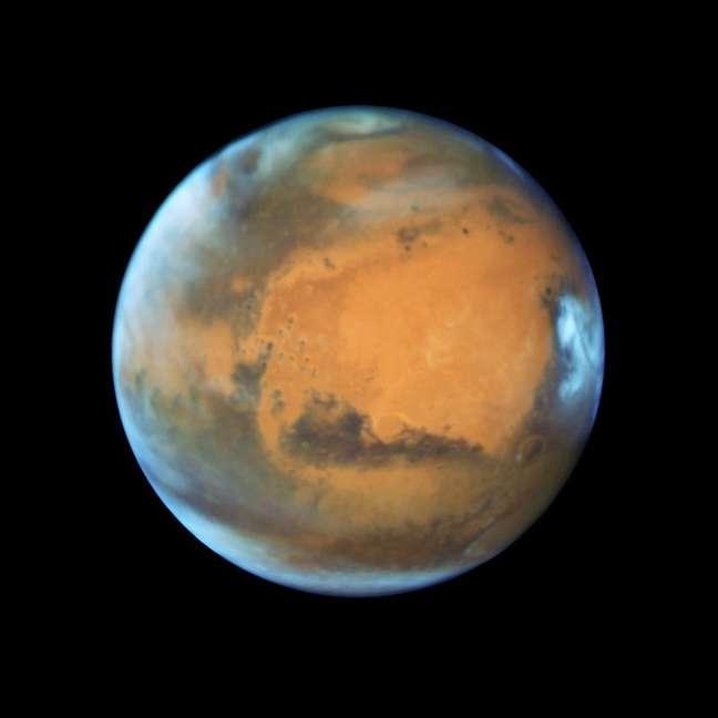 Planeta Marte em foto do telescópio espacial Hubble da Nasa  12/5/2016    Divulgação