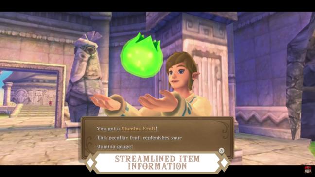 Itens em The Legend of Zelda: Skyward Sword HD