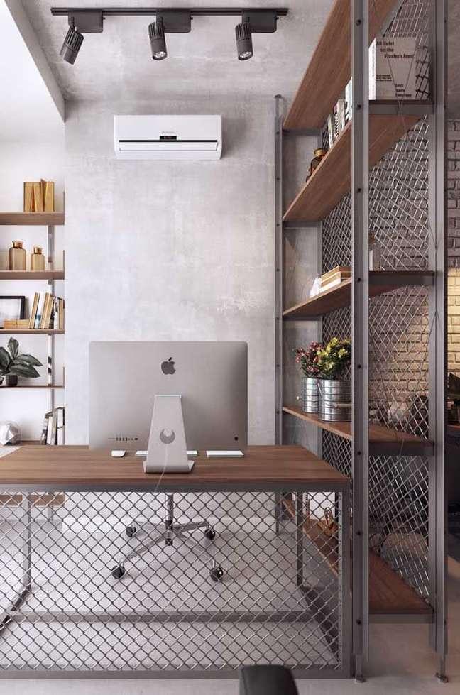2. Estantes são as melhores divisórias para escritório – Foto Pinterest