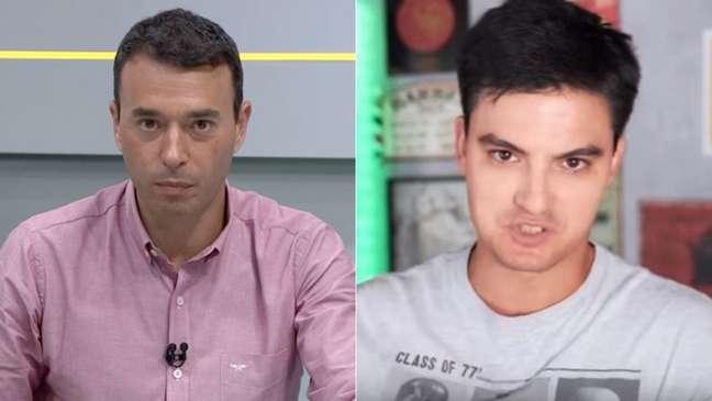 No Twitter, Rizek sugeriu o Botafogo como 'novo desafio' a Felipe Neto (Reprodução)
