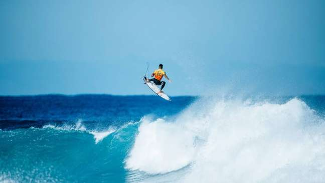Gabriel Medina é um dos favoritos à medalha de ouro no surfe em Tóquio (Matt Dunbar/World Surf League)