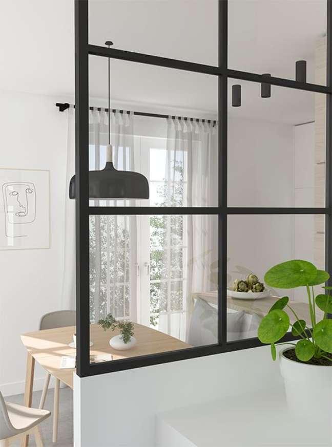 48. Divisórias de vidro são práticas para o escritório – Foto My Paradise