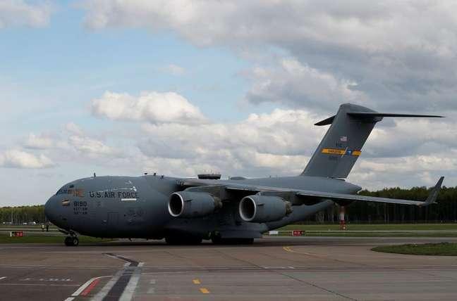 Aeronave tipo C-17 da Força Aérea dos Estados Unidos  21/05/2020 REUTERS/Evgenia Novozhenina/Pool