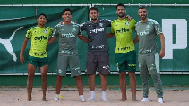 Rony e Luan iniciaram a transição física e estão mais próximos do retorno ao Palmeiras (Foto: Cesar Greco)