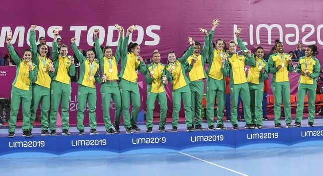 Conquista do hexacampeonato nos Jogos Pan-Americanos, em 2019. (Foto: Divulgação/Wander Roberto)