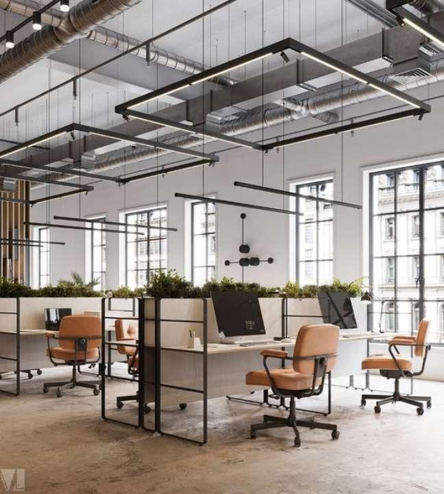 58. Divisórias pra mesa de escritório de ferro – Foto behance