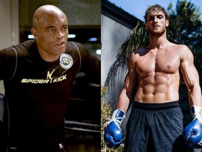 Anderson Silva e Logan Paul podem se enfrentar em duelo de Boxe ainda este ano (Foto: Reprodução/Instagram)