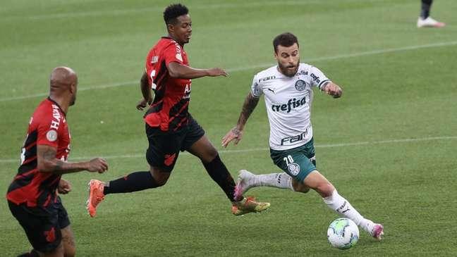 Palmeiras venceu último confronto contra o Athletico Paranaense por 3 a 0 (Foto: Cesar Greco/Palmeiras)
