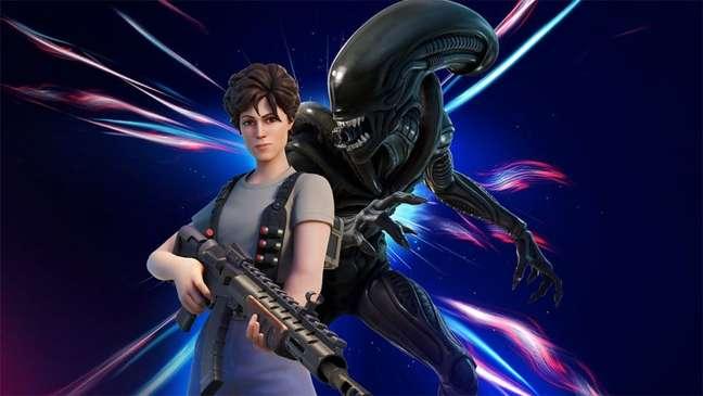 Alien em Fortnite
