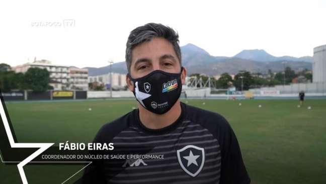 Botafogo apresentou Fábio Eiras (Foto: Reprodução/Botafogo TV)