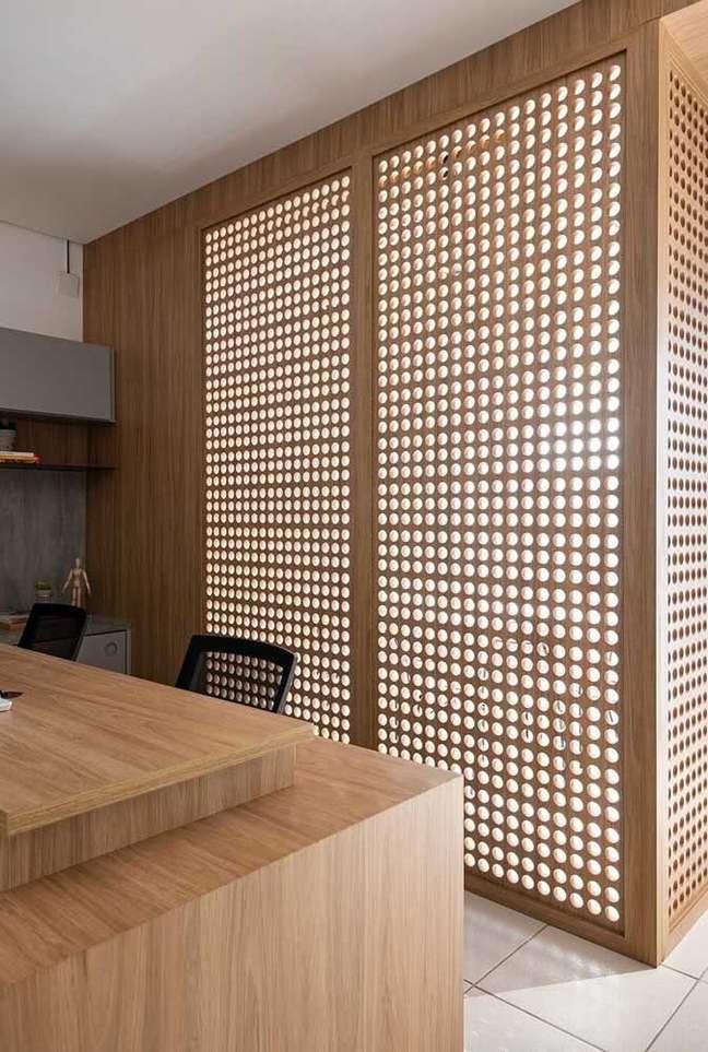 9. Divisórias para escritório no estilo cobogo – Foto Pinterest