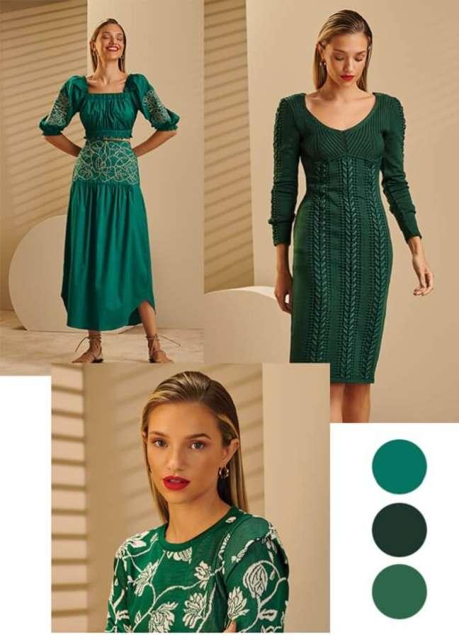 7. Ideia de looks na cor verde.