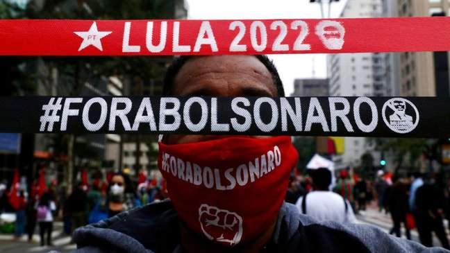 Manifestações de apoio a Lula têm sido constantes nos protestos contra Bolsonaro e causam desconforto em parte dos participantes