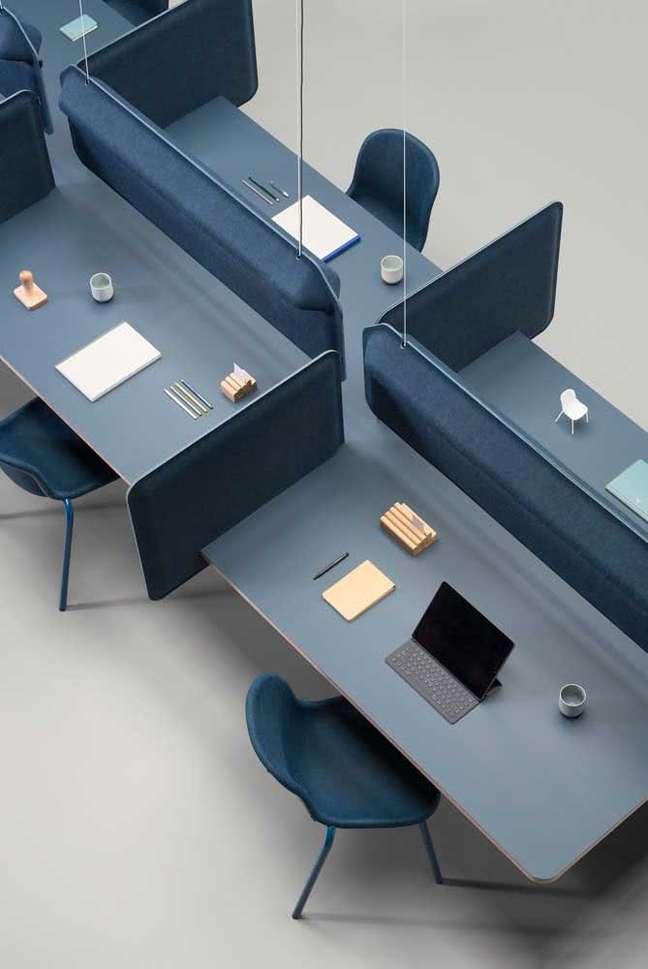3. Divisórias para mesa de escritório – Foto Pinterest
