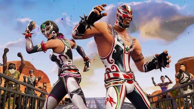 Fúria Mascarada pronta para a briga em Fortnite