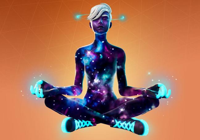 Conjunto Galaxy, skin temática da Samsung em Fortnite