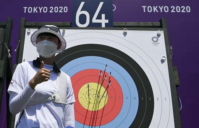 San An bateu recorde nos Jogos Olímpicos de Tóquio nesta sexta-feira Clodagh Kilcoyne/Reuters
