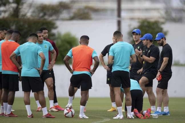 Seleção Brasileira pode garantir classificação para as quartas de final neste domingo (Foto: Lucas Figueiredo / CBF)
