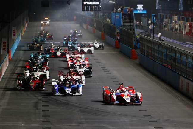 A largada da Fórmula E em Londres