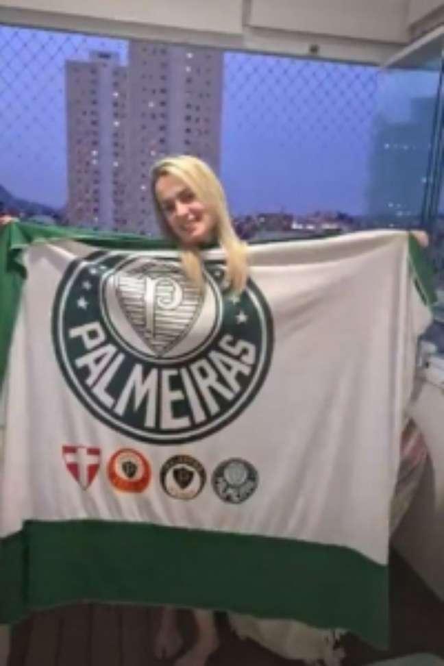 Érica Fernandes foi morta a facadas após título do Palmeiras (Foto: Reprodução)
