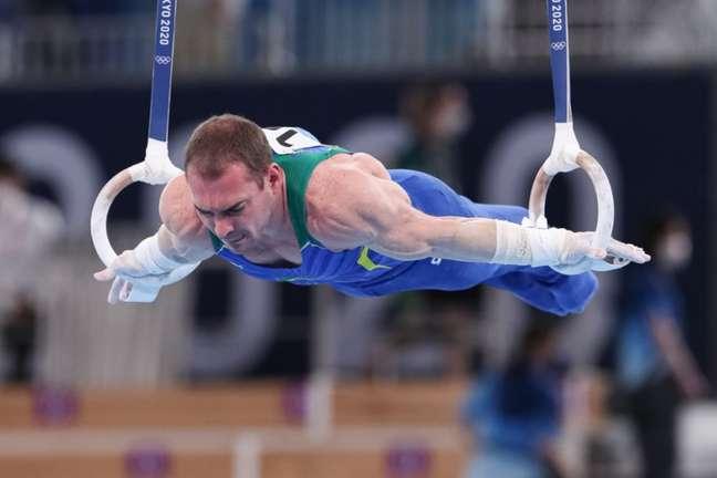 Zanetti vai em busca da terceira medalha olímpica nas argolas (Foto: Ricardo Bufolin/CBG)