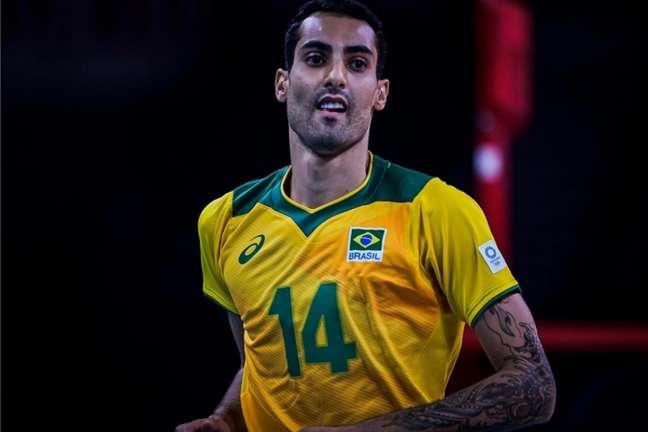 Douglas Souza é destaque da Seleção Brasileira de vôlei em Tóquio (Reprodução/Twitter)