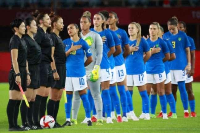 Seleção feminina empata com a Holanda na Olimpíada (KOHEI CHIBAHARA / AFP)