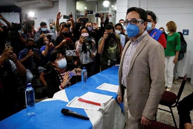 Principal procurador de combate à corrupção da Guatemala, Juan Francisco Sandoval 23/07/2021 REUTERS/Luis Echeverria