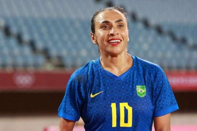 Marta tem três gols marcados nos Jogos Olímpicos de Tóquio (Foto: Kohei CHIBAHARA / AFP)