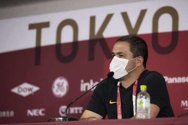 André Jardine tenta conduzir Brasil ao bicampeonato olímpico nos Jogos de Tóquio (Foto: Lucas Figueiredo / CBF)
