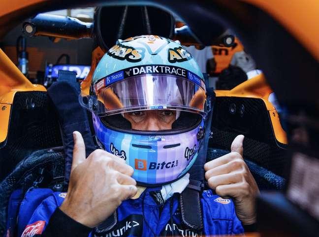 Daniel Ricciardo ainda está longe dos bons resultados de Lando Norris