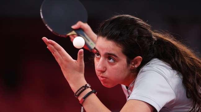 Hend Zazá foi derrotada na estreia dos Jogos Olímpicos de Tóquio neste sábado Reuters