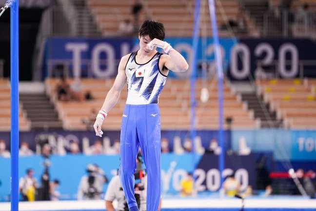 Kohei Uchimura foi eliminado neste sábado dos Jogos Olímpicos de Tóquio Kohei Maruyama AFLO/Reuters