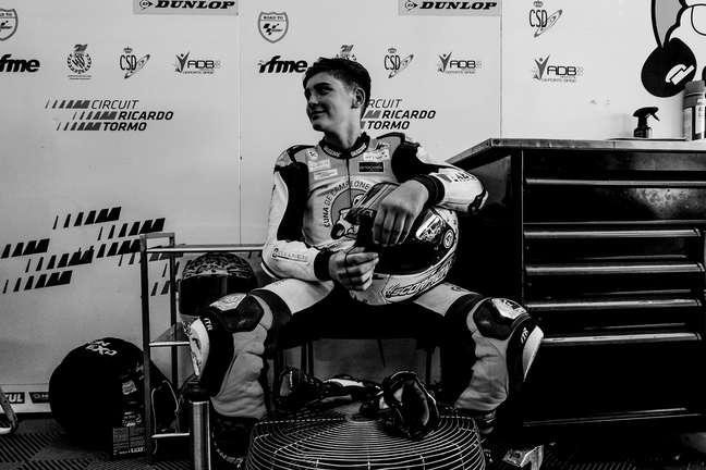 Hugo Millán, de 14 anos, morreu após acidente em corrida em Aragão