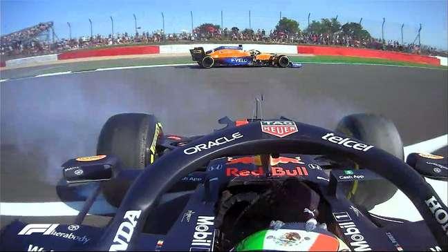 Sergio Pérez rodou no ar sujo do carro de Lando Norris na corrida sprint