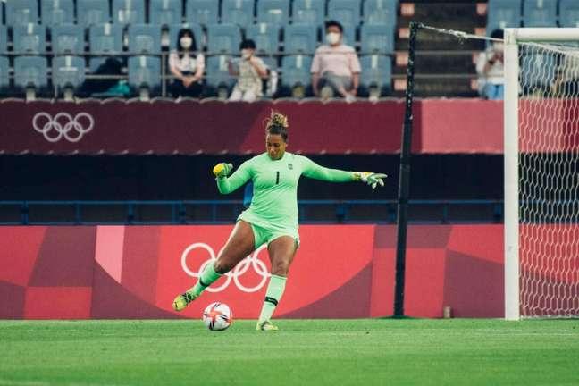 Bárbara falhou no segundo gol da Holanda em partida pelos Jogos Olímpicos (Foto: Sam Robles/CBF)