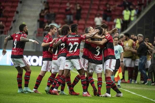 Flamengo goleou o Defensa y Justicia na última quarta-feira (Foto: Alexandre Vidal/Flamengo)