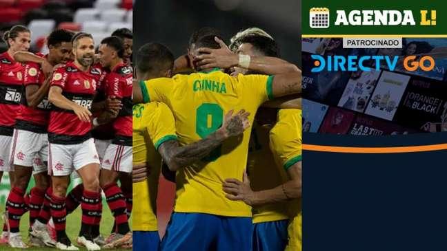 O dia terá Brasileirão, Olimpíada e muito mais! (Montagem LANCE!)