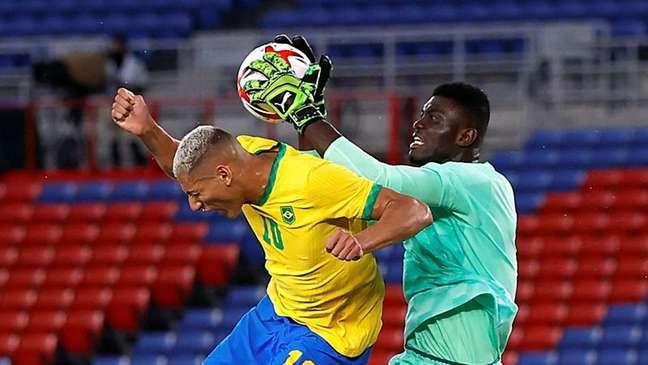 Duelo Brasil x Costa do Marfim pelos Jogos de Tóquio 25/07/2021 REUTERS/Phil Noble