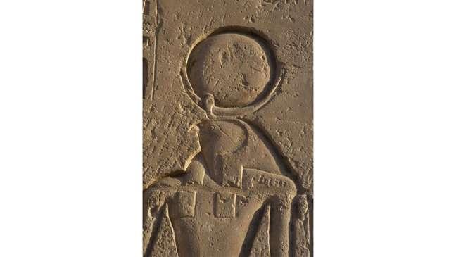 A antiga divindade egípcia Rá era retratada com um círculo representando o Sol