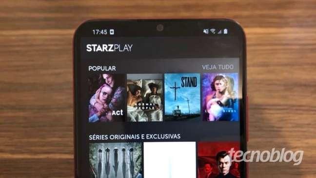 Aplicativo Starzplay no Android