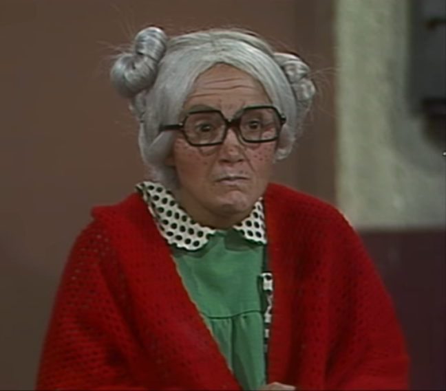 Aparição de Dona Neves foi ao ar em 1977.