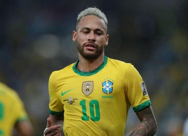 Neymar reclamou de perseguição da imprensa 10/07/2021 REUTERS/Ricardo Moraes