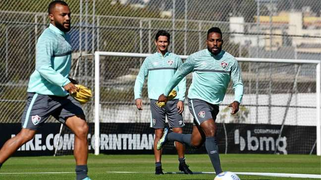 Luccas Claro durante o treino do Fluminense no CT do Corinthians (Foto: Mailson Santana/Fluminense FC)