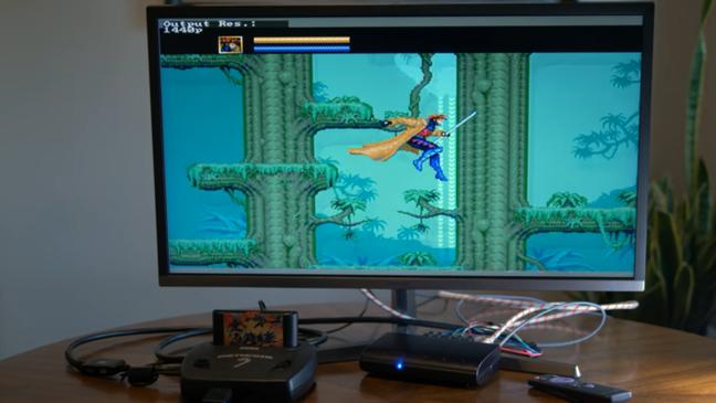 X-Men rodando no Mega Drive com Retrotink 5X-Pro